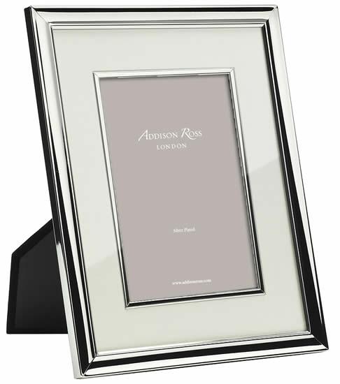 Addison Ross 8 X 10 Silver Cream Mount Bezel Frame