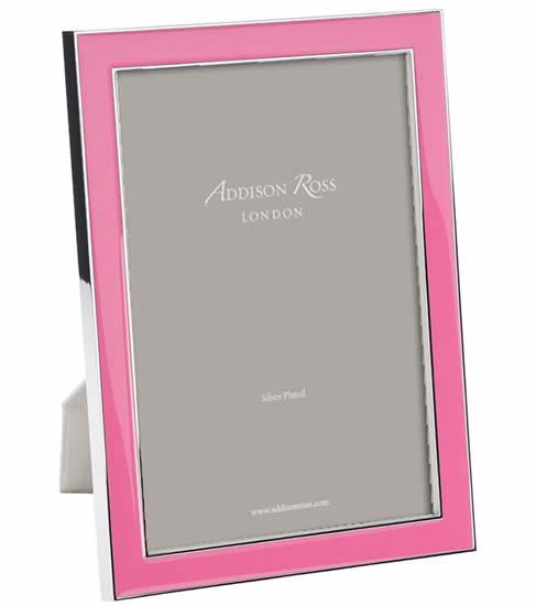 Addison Ross 5 X 7 Enamel Frame 15mm New Pink