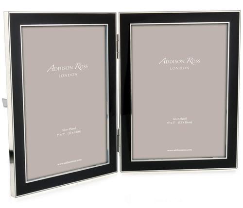addison ross 5 x 7 double enamel frame black. Black Bedroom Furniture Sets. Home Design Ideas