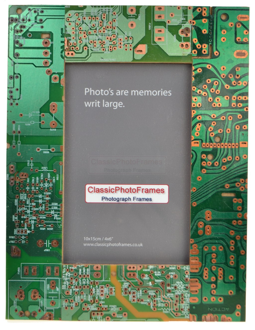 4 x 6 Recycled circuit board photo frame