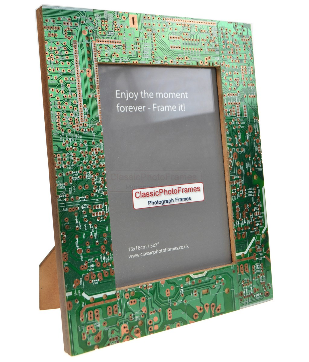5 x 7 Recycled circuit board photo frame
