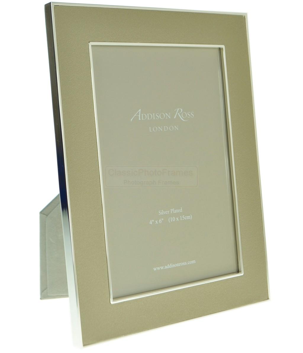 Addison Ross 4 X 6 Nu Buck Amp Silver Frame Ecru
